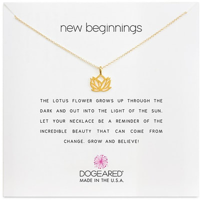 Dogeared gold lotus necklace